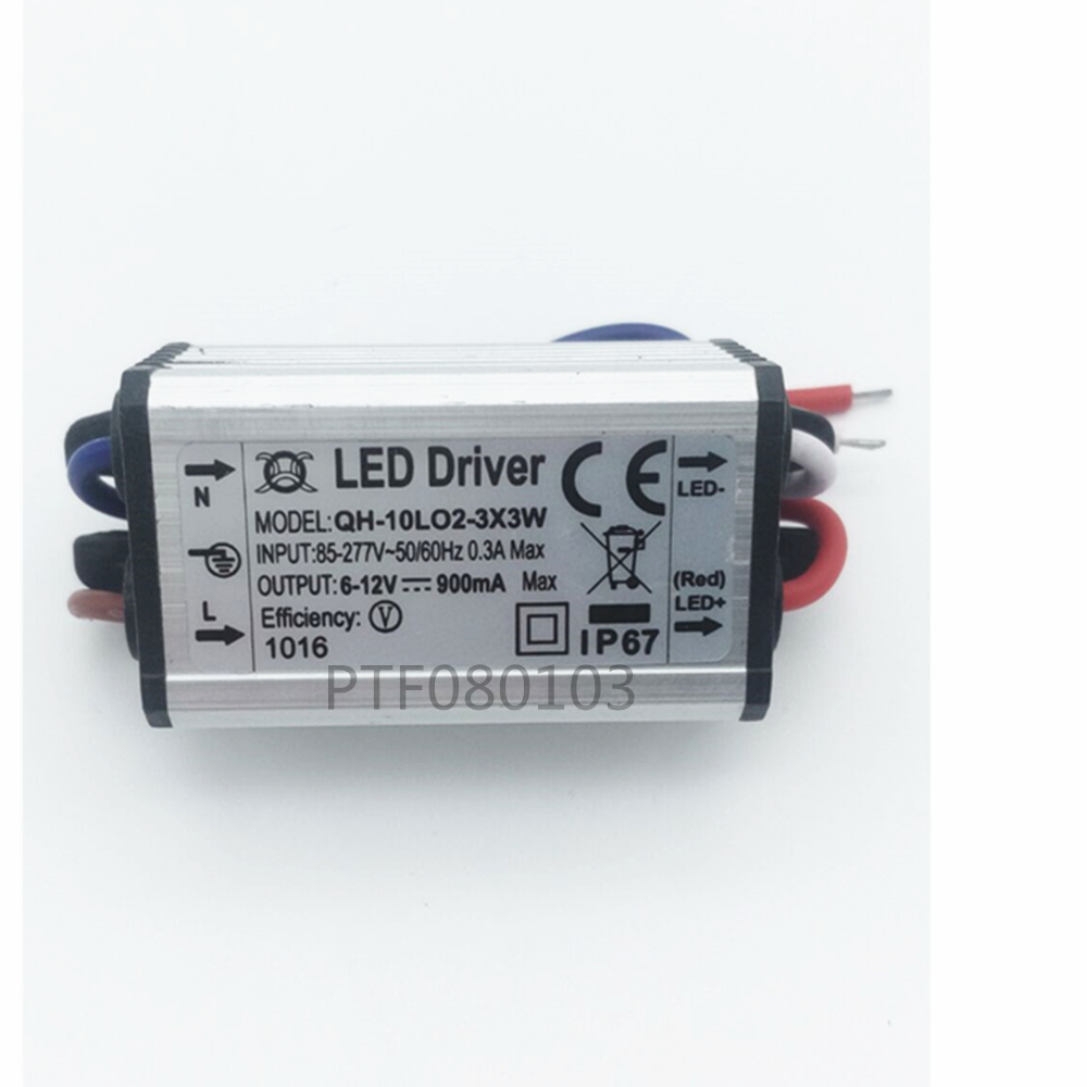 Image 1 - 1pcs Waterproof Power Supply AC 110 220V LED Driver 2 3x3W 10W 900mA for 10w High power led chip light-in Lighting Transformers from Lights & Lighting