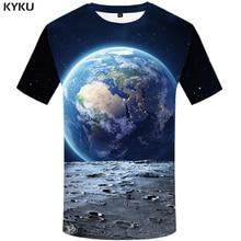 New Brand Earth T Shirt Women Moon T-shirt Space Top Tees Hip Hop Women Clothes 2017 Summer Short Sleeve Tee Shirts