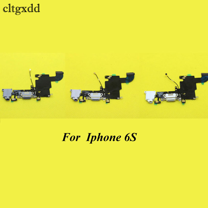 cltgxdd New repair parts for <font><b>iPhone</b></font> <font><b>6s</b></font> 6 s 4.7 charging port charger dock <font><b>connector</b></font> flex cable with Headphone Audio Jack,3 color image