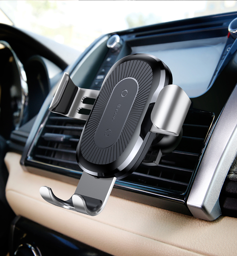 Cushion - Baseus 10W QI Wireless Charger Car Holder For iPhone X Plus Samsung S8 S9 Fast Car Mount Wireless