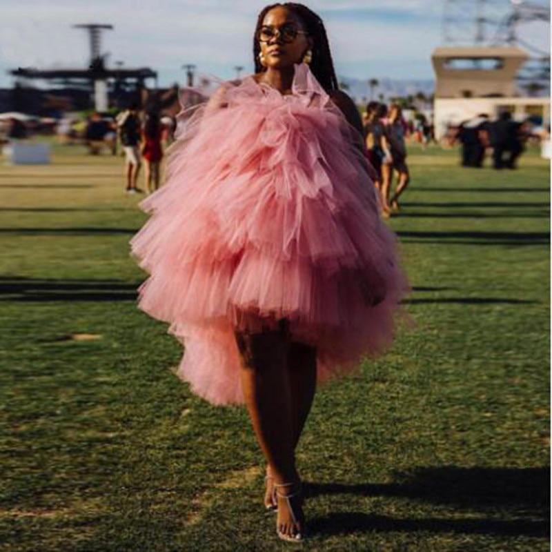 Mode 2019 vêtements pour femmes sexy à plusieurs niveaux tulle hauts Slash cou doux rose femme chemise décorative volant personnalisé toute couleur libre
