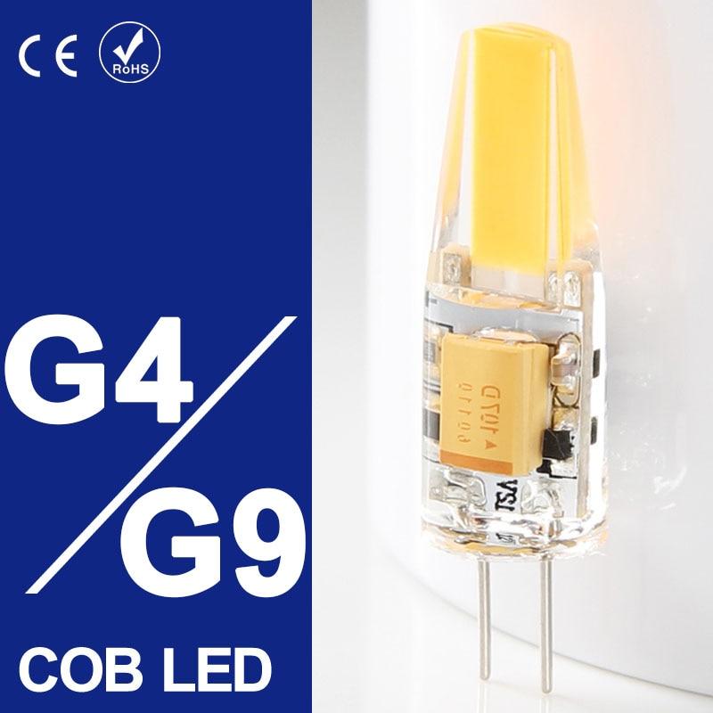 10pcs lampada led g9 g4 bulb led ac dc 12v 220v 6w 10w for Bombillas led g9 10w