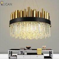 LICAN Post Modern Luxury Crystal Chandelier For Lobby Living Room Villa Gold Hanging Chandelier Lighting Fixtures
