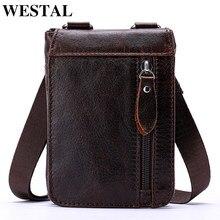ee2d6c72d4 WESTAL en cuir véritable hommes taille sac ceinture petit fanny pack pour  hommes hanche sacs décontracté argent téléphone pochet.