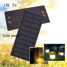 BCMaster Portable 1W 5V Solar Panel Standard Epoxy Polycrystalline Silicon DIY Battery Power Charge Module 132*63 mm Solar Cell