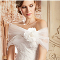 Free Shipping women Summer Sleeveless Flower Bridal Wraps Summer Wedding Party Tulle Boleros Bridal shrug stole Cape
