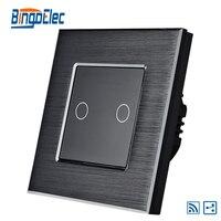 2gang 2way Remote Touch Button Sensor Light Switch EU UK Standard AC110 240V Free Shipping
