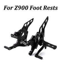 For Kawasaki Z900 2017 2018 Foot Rests Motorcycle CNC Accessories Adjustable Footrest set Rear Pegs