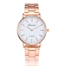 Top Luxury Brand Geneva Watch Women stainless steel Watches Casual Rose Gold Quartz Wristwatch Relogio Feminino Montre Femme цена и фото