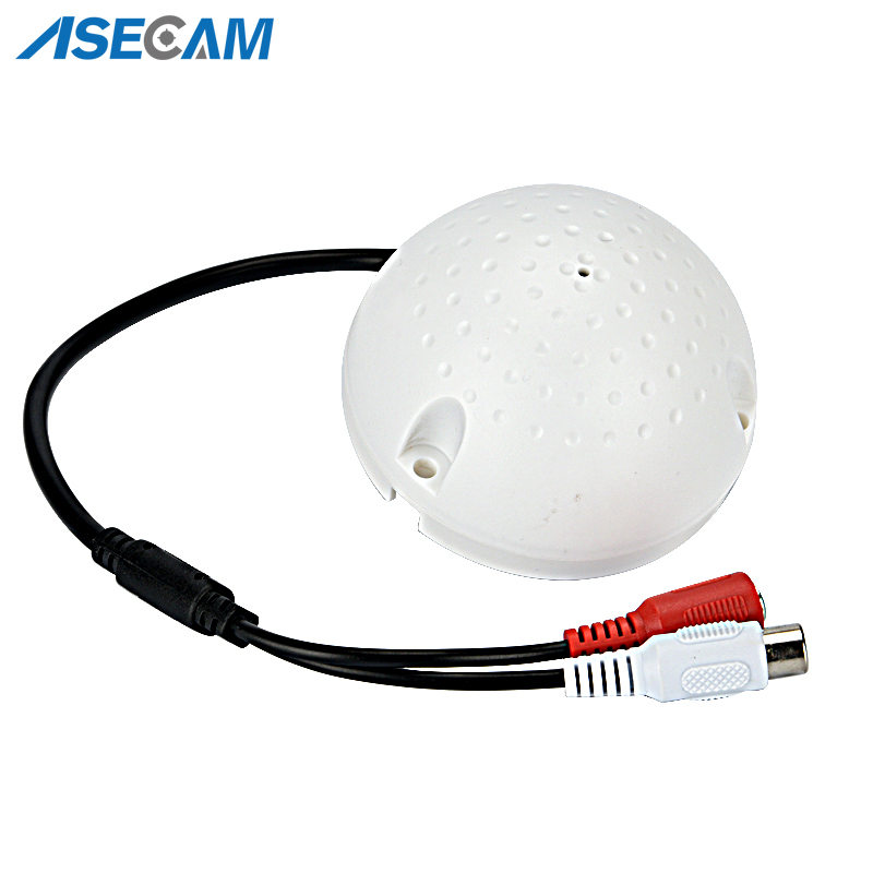 Low noise Security Camera Sound pick-up Device White Mic Microphone speaker Monitor Audio for DVR