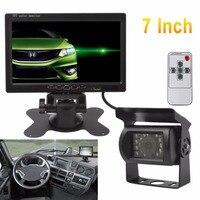 7 인치 12 볼트/24 볼트 TFT LCD 무선 CMOS 자동차 후면보기 모니터 IR 나이트 비전 백업 카메라 키트 주차 시스