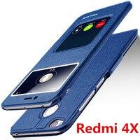 Xiaomi Redmi 4X Case High Quality Window PU Leather Case Cover For Redmi 4X 5 0