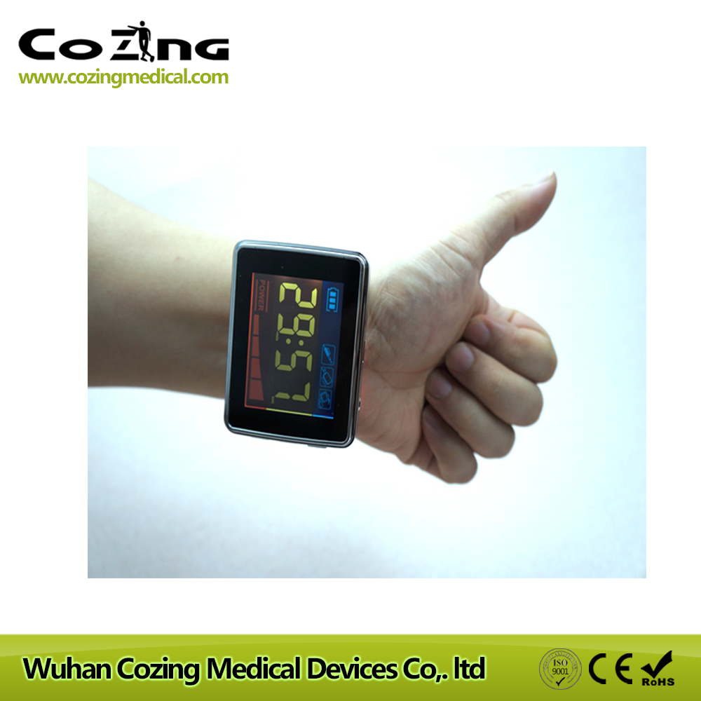 Reduce Blood sugar smart watch 650nm low level laser device for rhinitis relief blood circulation machine old age products healthcare watch high blood sugar physical treatment wrist laser therapy