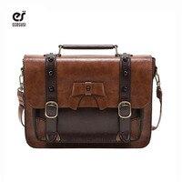 ECOSUSI Vintage Briefcase Women's Crossbody Bags Women Handbag Tote Classic Women Shouder Bags Bolsa Feminina