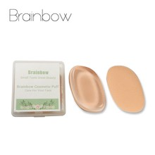 Brainbow 1pc Silicone Sponge Double Sided Cosmetic Puff with Box Makeup Sponge For Liquid Foundation BB Cream Beauty Essential(China)
