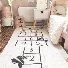 Детский игровой коврик, мягкие коврики для ползания с рисунком дороги, модель детской игрушки в скандинавском стиле, декоративный напольный ковер для детской комнаты