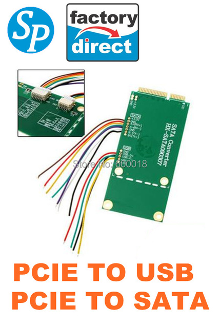 wholesale  PCI Express Mini PCI-e  to SATA converter , pcie to usb Coverter  Adapter  SPPCIE1 Factory Direct