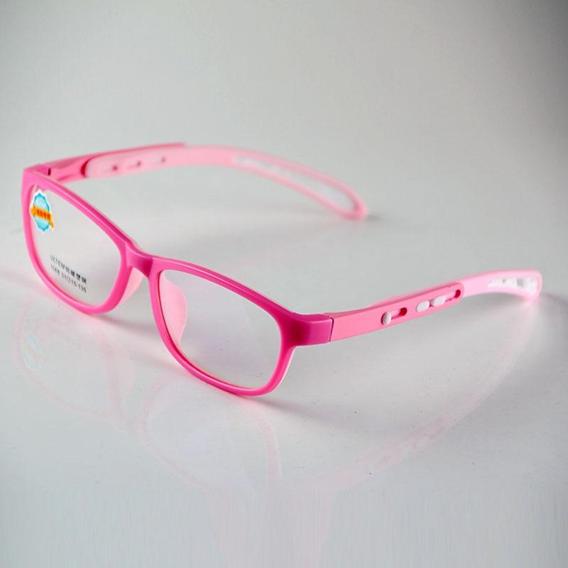 21fc7d2801 HEJIE nuevos niños ULTEM y silicona Oval doble colores marcos de anteojos  lente claro para niños niñas niños tamaño 51 15 135mm 1068 en De los  hombres gafas ...