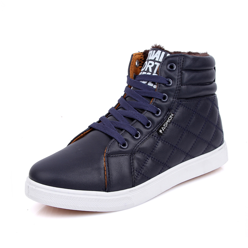 Fashion font b Men s b font Plimsolls High Top Thicken Warm Canvas Shoes Sapatos Tenis