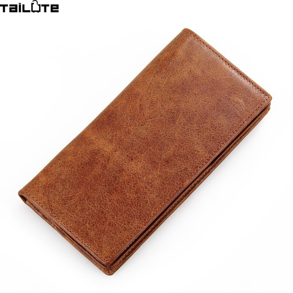 TAILUTE Genuine Leather Men Clutch Wallet Male Phone Wallets Soft Leather Purse