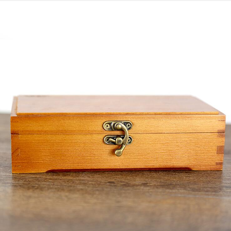 caixa de armazenamento de madeira caixa de lapis de papelaria armazenamento de joias caixa de lapis