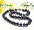 "GORGEOUS 18""10-11MM AAA+TAHITIAN NATURAL BLACK PEARL NECKLACE"