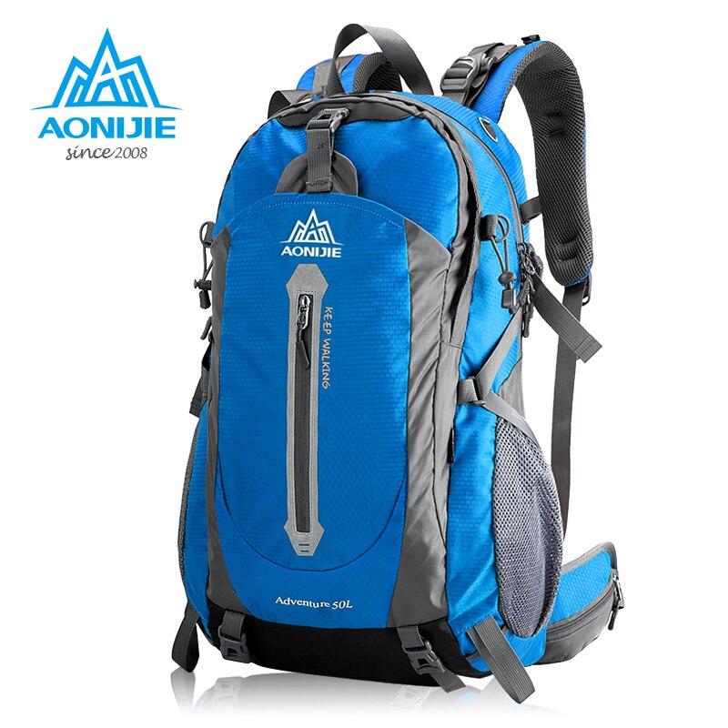 AONIJIE 40L 50L sacs de plein air randonnée sac à dos sac à dos sac à dos sac à dos pour voyager Camping escalade pêche avec couverture de pluie 9019