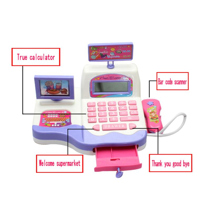 Cash Register Toy Supermarket Toy Display And Scanning Function Kid Education