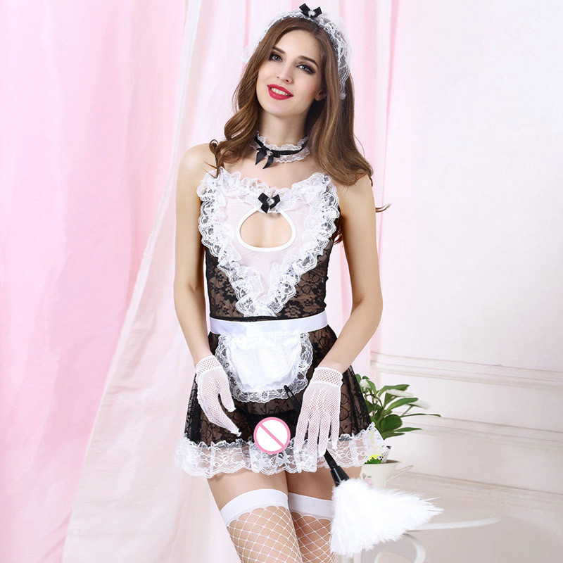 Women's Button Sexy Lingerie Doctor Maid Costume Babydoll Erotic Lingerie Sexy Product Cosplay Clothing Deep V Neck Temptation