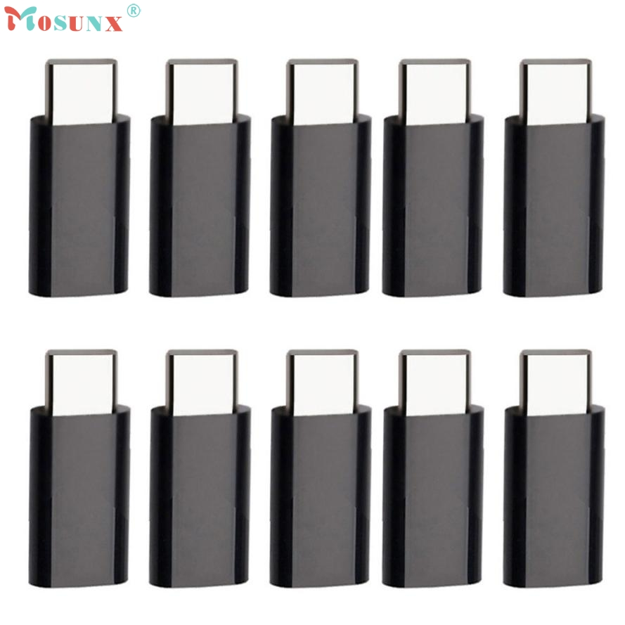Adroit Black Color 10X USB 3.1 Type-C Male to Micro USB Female Converter USB-C Adapter Type DEC21 drop shipping mini black usb type a female to usb type b male converter connector adapter