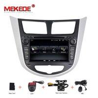 MEKEDE Android 8,1 HD автомобильный dvd для Hyundai Solaris Accent Verna i25 с gps навигации радио Видео Стерео мультимедийный плеер