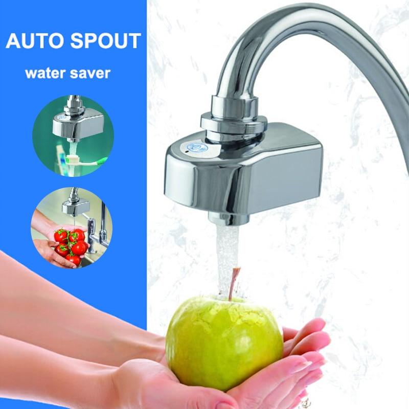 Conservação da água sensor infravermelho torneira touchless automático torneira adaptador mãos livres poupança de água sensor torneiras