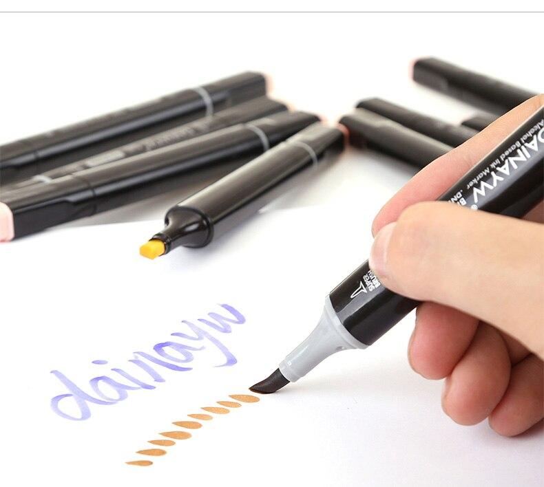 álcool baseado esboço marcador caneta para manga