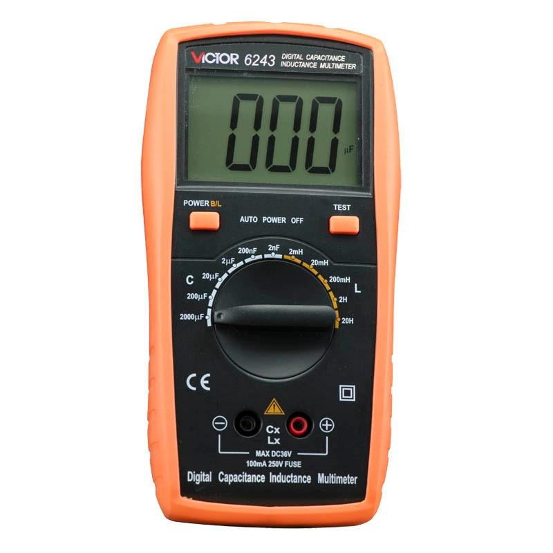 VICTOR 6243 Capacitance/Resistance/Inductance Digital Modern Professional Inductance Capacitance Meters LR Meter Ohmmeter victor 6056d digital clamp meter