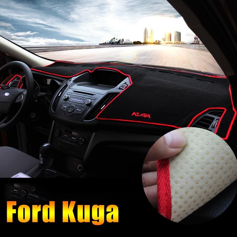Car Dashboard Avoid light Pad Instrument Platform Desk Cover Mats Carpets LHD For Ford Kuga Escape