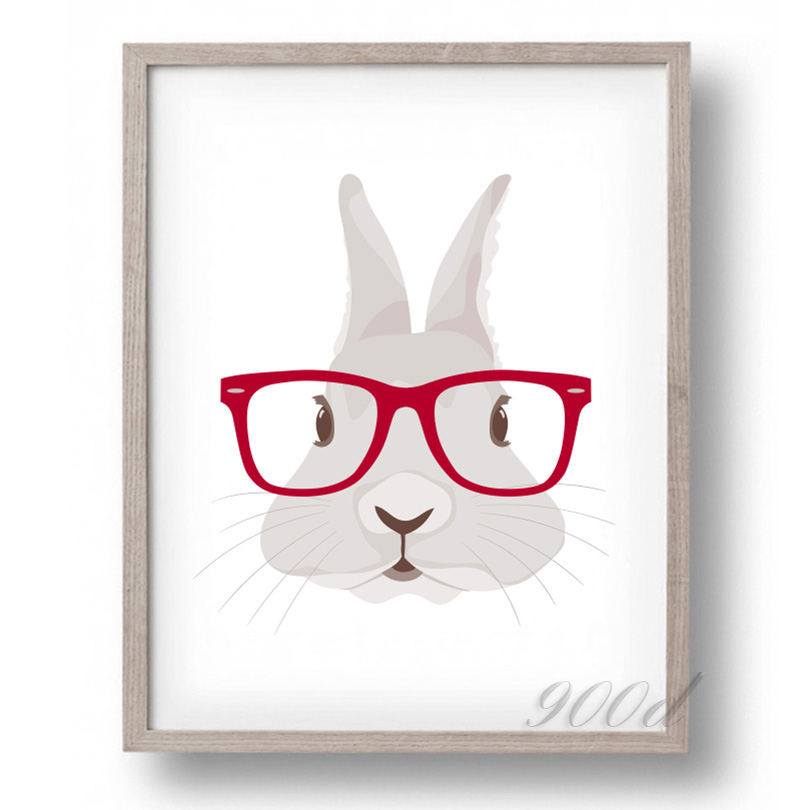 Lovely Cartoon rabbit Canvas Art Print Painting Poster,  Wall Pictures for Home Decoration, Home Decor FA389