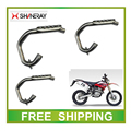 XY250GY Front muffler pipe exhaust SHINERAY X2 X2X  250CC dirt bike accessories free shipping