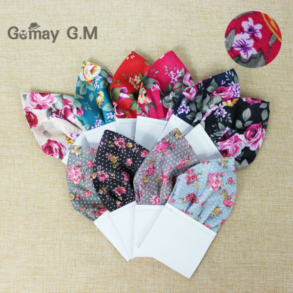 Hot New Floral Suit Pocket Square For Men Fashion Mans Handkerchief Wholesale Mens Hanky Free Shipping