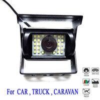 DC 12V 24V Waterproof Color Ccd Backup Parking Kit Camera for Car Bus Truck RV IR Rear View Camera Parking assistance