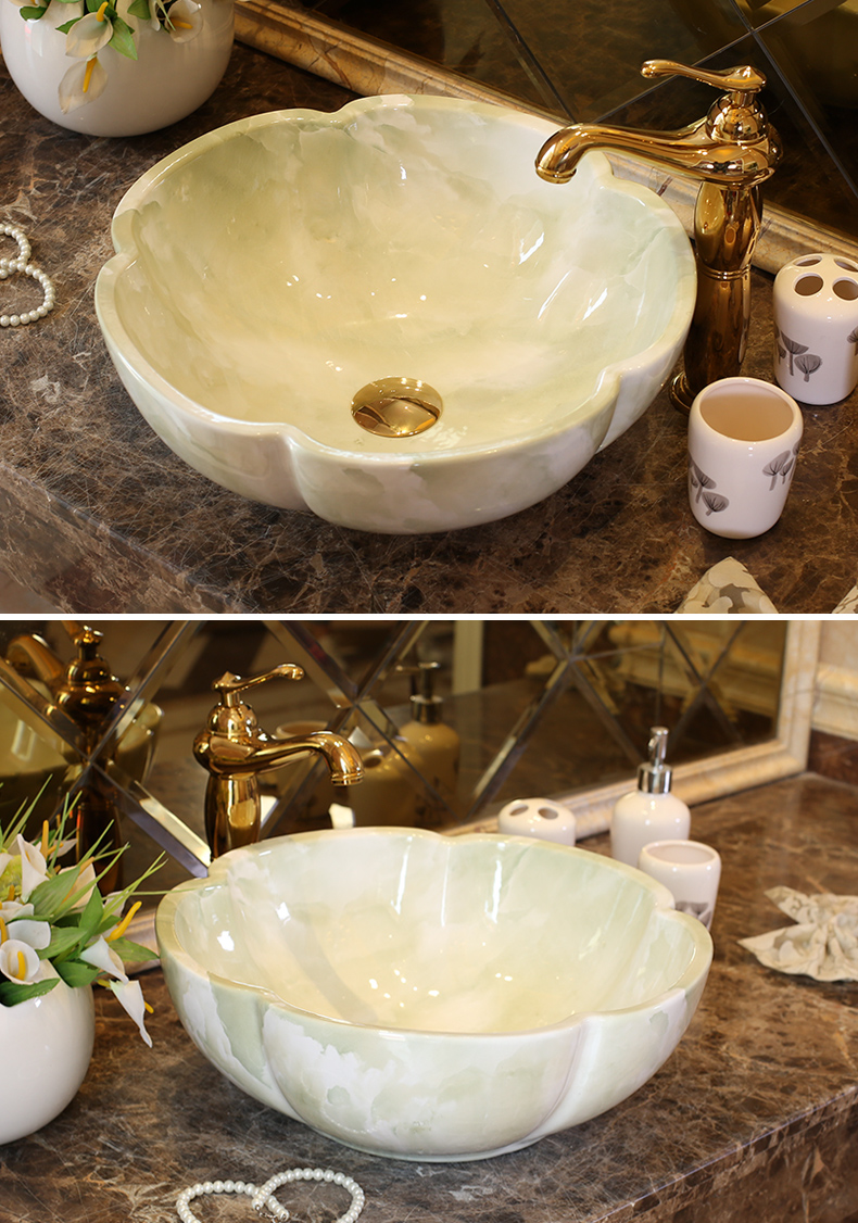 China Artistic Europe Style Counter Top porcelain wash basin bathroom sinks ceramic art lavabo bowl (5)