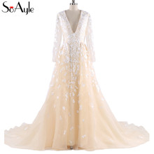 SoAyle Real Picture Prom Dresses Long Sleeves