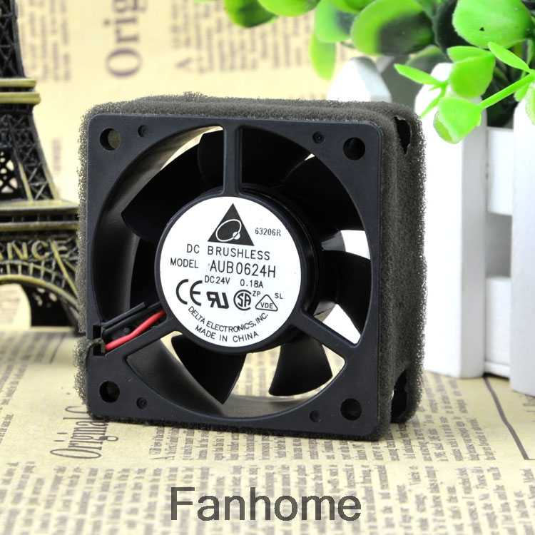 Delta AUB0624H 6025 24 V 0.18A 6 Cm 6 Cm 2-Wire Inverter Cooling Fan