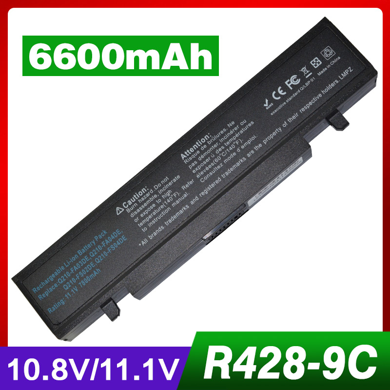 цена 6600mAh Laptop Battery For Samsung R580 R540 R519 R525 R430 R530 RV411 RV508 R510 R528 AA-PB9NC6B AA-PB9NS6B PB9NC6B