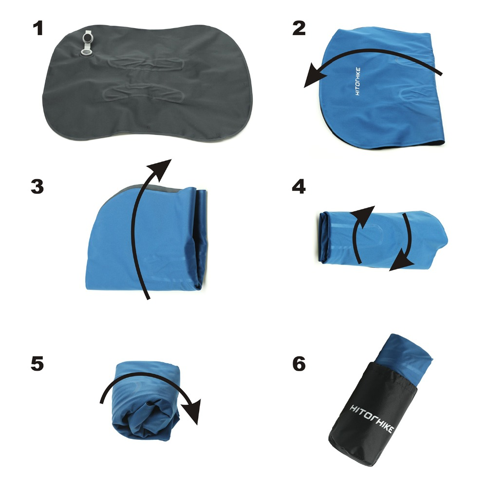 Almofada de acampamento para avião inflável pescoço