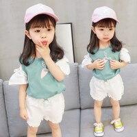 TUTUYU Children S Wear Children S Summer Suit 2018 New Baby Girl Summer Korean Version Two