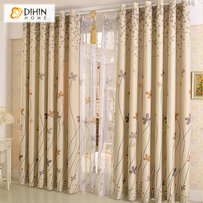 Dihin 1 Pc Ready Made Printed Best Sellers Curtains For Living Room Sheer Curtain Window Drapes