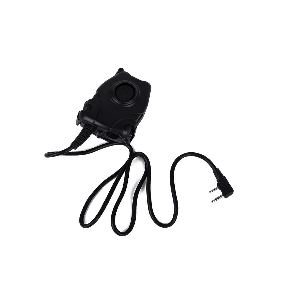 Peltor PTT Headset Adaptor untuk Z Tactical Bowman Elite II HD01 HD02 HD03 H50 H60 untuk Kenwood BaoFeng UV-5R walkie talkie