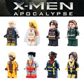 Marvel mini x-men 8 unids/lote Cable Blanco Reina Sabretooth Kitty Pryde Obispo Warpath Coloso figuras Niños Juguete lepin Compatible