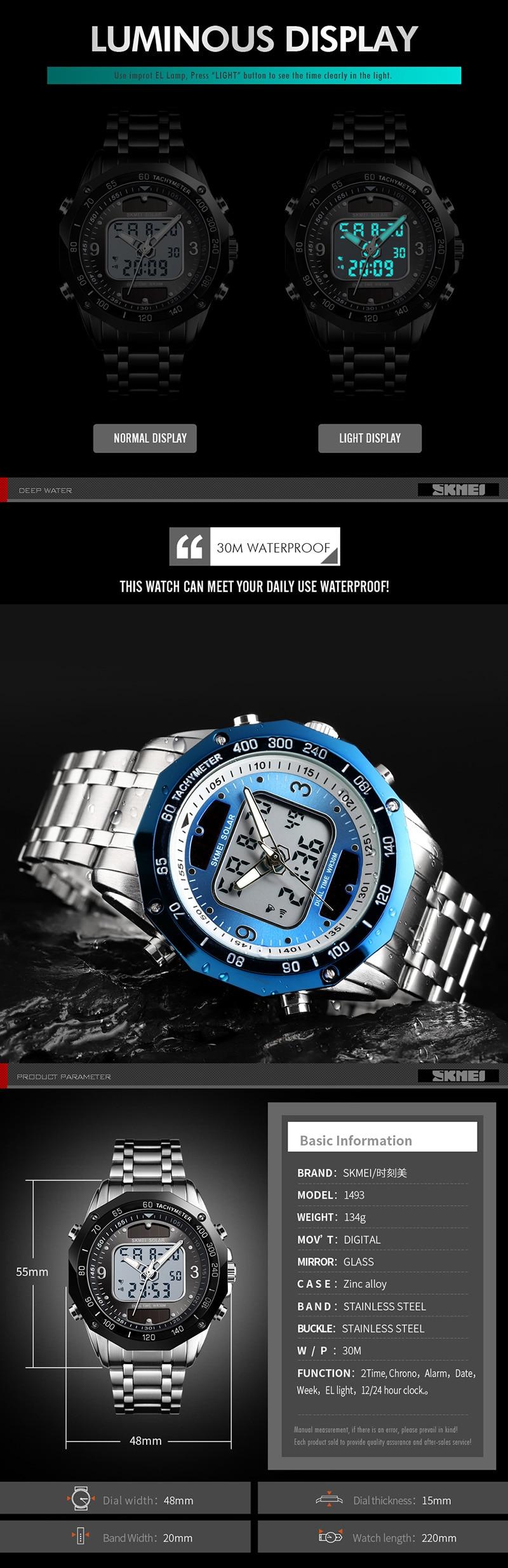 HTB12rOXUNTpK1RjSZFMq6zG VXaI Solar Men Military Sport Watches Men's Digital Quartz Clock Full Steel Waterproof Wrist Watch relojes hombre 2019 SKMEI