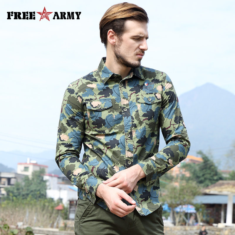 Colorful Spring Shirt Fashion Casual Brand Mens Clothes Long Sleeve Printed Letter Blue Shirts Large Size Slim Floral Shirt Men